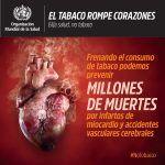 Día Mundial Sin Tabaco: El tabaco rompe corazones 31 de mayo de 2018